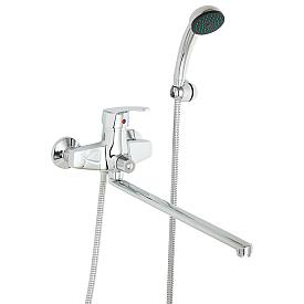 ENLAR Смеситель д/ванны монокомандный, с поворотным изливом L40 см. и ручным душем, хром