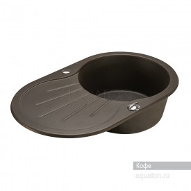 Мойка для кухни Паола круглая с крылом кофе Aquaton 1A714032PA280