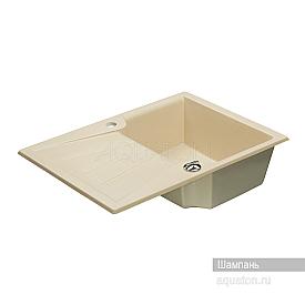 Мойка для кухни Монца прямоугольная с крылом шампань Aquaton 1A716032MC290
