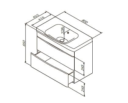База под раковину подвесная AM.PM Like M80FHX0802WG 800 мм