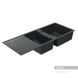 Мойка для кухни Торина прямоугольная с чашей графит Aquaton 1A712032TR210