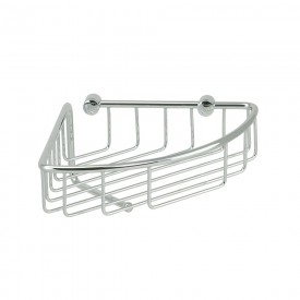 BASKET Решетка угловая 22х22хh12 см., с крючком, хром
