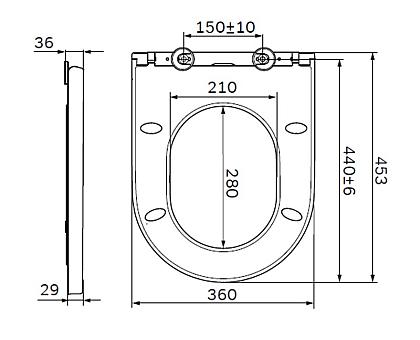 C707858WH Spirit V2.0 сиденье для унитаза slim wrap-over микролифт