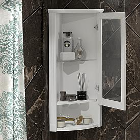 Шкаф Клио подвесной угловой, правый, с матовым стеклом Opadiris Z0000014863