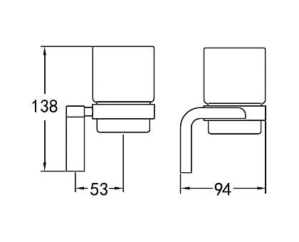 Держатель стакана подвесной ART&MAX AM-F-8930