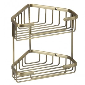 BASKET Решетка двойная угловая 18,5x18,5хh20 см., бронза