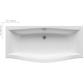 Акриловая ванна Ravak MAGNOLIA C601000000 180 x75 белая