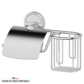 Держатель освежителя воздуха и туалетной бумаги с крышкой (хром) FBS LUX 053