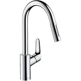 Смеситель с выдвижным изливом для кухни Hansgrohe Focus 31815800