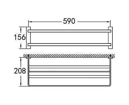 Полка для полотенец подвесная ART&MAX AM-F-8910