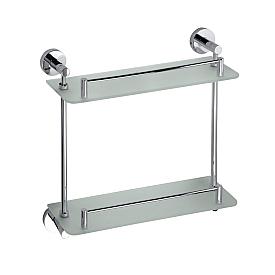 Полочка стеклянная двойная Bemeta 104202122