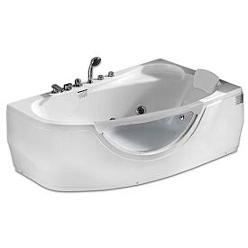 Ванна угловая с подголовником Gemy 161х96 G9046 B R
