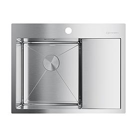 Кухонная мойка Omoikiri Akisame 65-IN-L 4973058 нержавеющая сталь