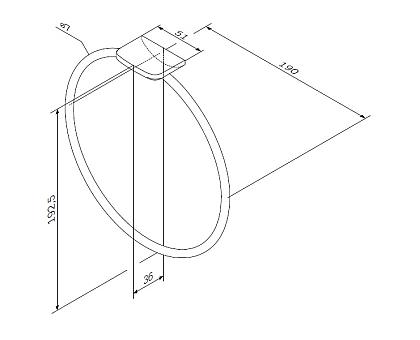 A50A34400 Inspire 2.0 Кольцо для полотенец хром