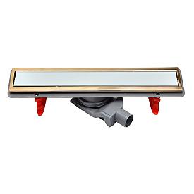 Душевой лоток Pestan Confluo Premium White Glass Line 450 Gold 13100089