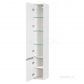 Шкаф - колонна Капри левый белый глянец Aquaton 1A230503KP01L