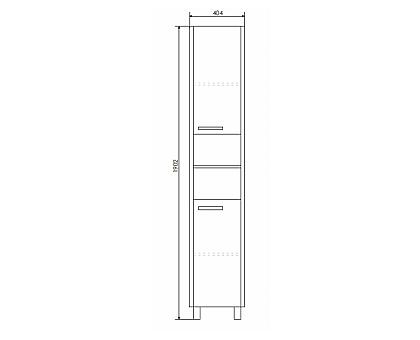 Шкаф-колонна Comforty Барселона-40 00003128626