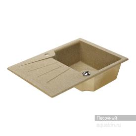 Мойка для кухни Монца прямоугольная с крылом песочная Aquaton 1A716032MC220