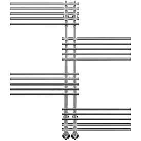 Полотенцесушитель водяной Terminus Европа Люкс П20 500x996 1147-1108