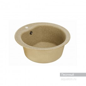 Мойка для кухни Мида круглая песочная Aquaton 1A712732MD220