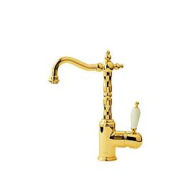 Смеситель для умывальника высокий Boheme Tradizionale Oro 282 золото