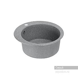 Мойка для кухни Иверия круглая серая Aquaton 1A711032IV230