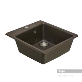 Мойка для кухни Парма квадратная кофе Aquaton 1A713032PM280