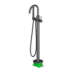 Смеситель напольный для ванны с душем Timo Saona 2310/03Y-CR черный
