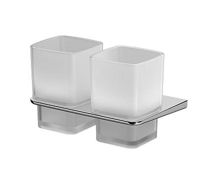 A50A343400 Inspire 2.0 Двойной стеклянный стакан с настенным держателем хром