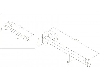 A8032600 Like Двойная вешалка-вертушка для полотенец