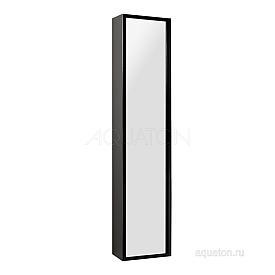 Шкаф - колонна Римини подвесная черный глянец Aquaton 1A134603RN950