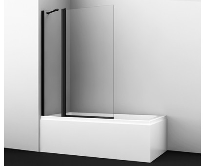 48P02-110BLACK Fixed Стеклянная шторка на ванну WasserKRAFT