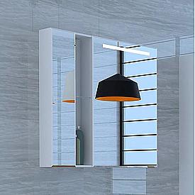 Зеркальный шкаф Марко 80 белый Aquaton 1A181102MO010