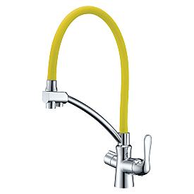 Смеситель Lemark Comfort LM3070C-Yellow для кухни с подключением к фильтру с пит. водой