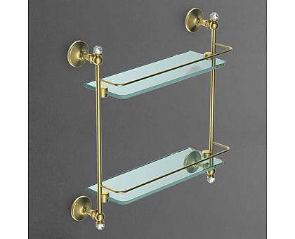 Полка стеклянная двойная подвесная ART&MAX AM-2682BSJ-Br