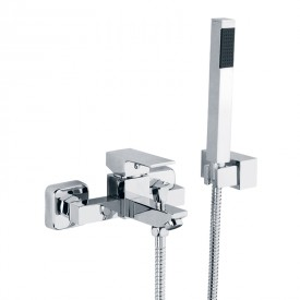 QUARTET Смеситель д/ванны монокомандный, с ручным душем, хром