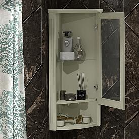 Шкаф Клио подвесной угловой, левый, с матовым стеклом Opadiris Z0000014861