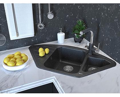 Мойка для кухни кварцевая Paulmark Wiese PM529050-BLM