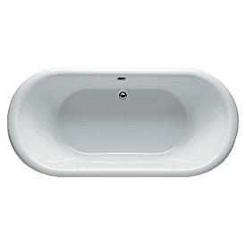 Овальная ванна Riho Dua 180x86 с белой глянцевой панелью BD0100500000000