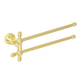 GIALETTA Полотенцедержатель двойной поворотный L30 см, золото