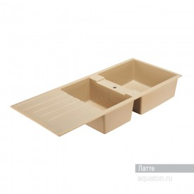 Мойка для кухни Торина прямоугольная с крылом и чашей латте Aquaton 1A712032TR260