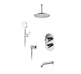 А174868 Thermo Встраиваемый комплект для ванны с верхней душевой насадкой, лейкой и изливом WasserKRAFT WasserKRAFT