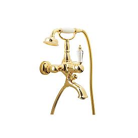 Смеситель для ванны(душевой комплект) Boheme Imperiale Presente 323 золото