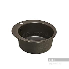 Мойка для кухни Иверия круглая кофе Aquaton 1A711032IV280