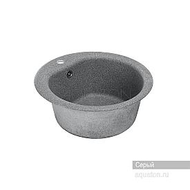 Мойка для кухни Мида круглая серая Aquaton 1A712732MD230