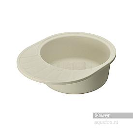 Мойка для кухни Чезана круглая с крылом жемчуг Aquaton 1A711232CS240