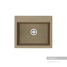 Мойка для кухни Делия 60 прямоугольная терракотовая Aquaton 1A715232LD270