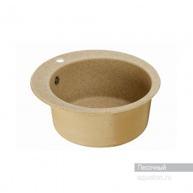 Мойка для кухни Иверия круглая песочная Aquaton 1A711032IV220