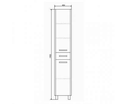 Шкаф-колонна Comforty Тулуза-40 00003121663
