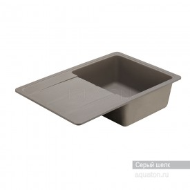 Мойка для кухни Аманда прямоугольная с крылом серый шелк Aquaton 1A712832AD250
